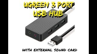 UGREEN 3 Port USB Hub with External Sound