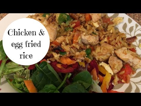 Chicken, Egg Fried Rice // SW Dinner Recipe