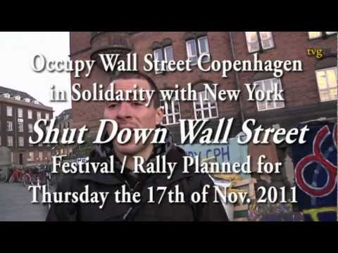 Welcome  to Occupy CPH CAMP: Praizing Shutdown Wall Street With Solidarity From Copenhagen