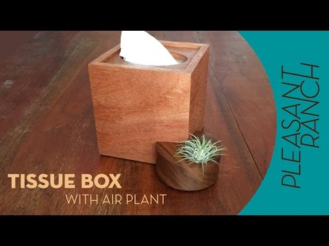 Tissue Box Cover with Sidecar Air Planter
