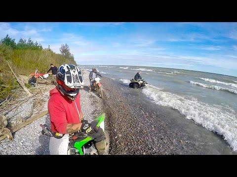 GoPro Dirtbiking:  Wesleyville's Lakeshore Trail