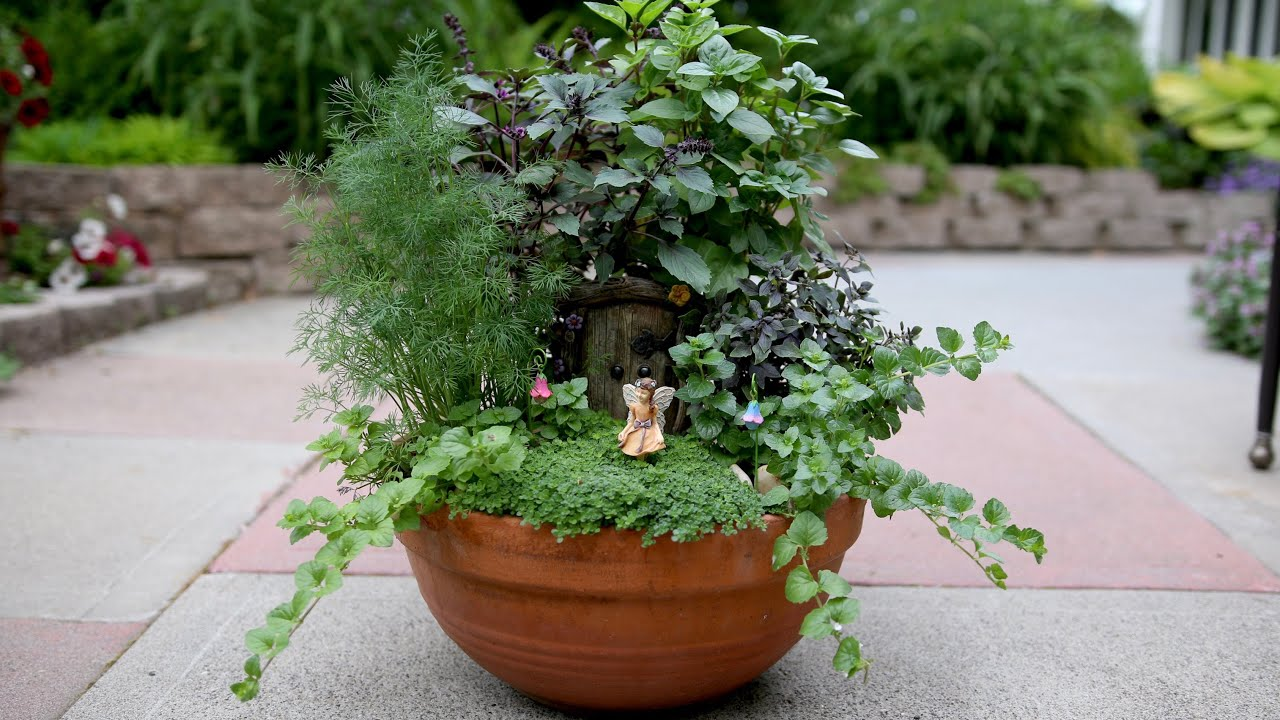 Herb fairy garden youtube for Landscaping your garden