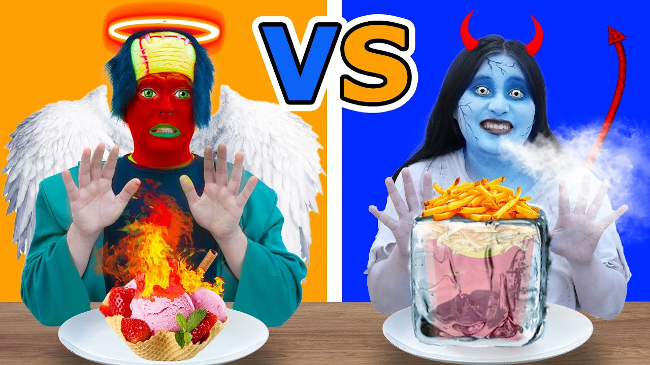 HOT VS COLD ZOMBIES FOOD CHALLENGE | FIRE VS ICY ZOMBIE FUNNY CHALLENGES AND PRANKS BY CRAFTY HACKS
