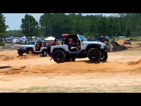 Jeep beach jam obstacle course Panama City Beach FL 2018