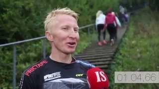 Marten Bostrom running on stairs