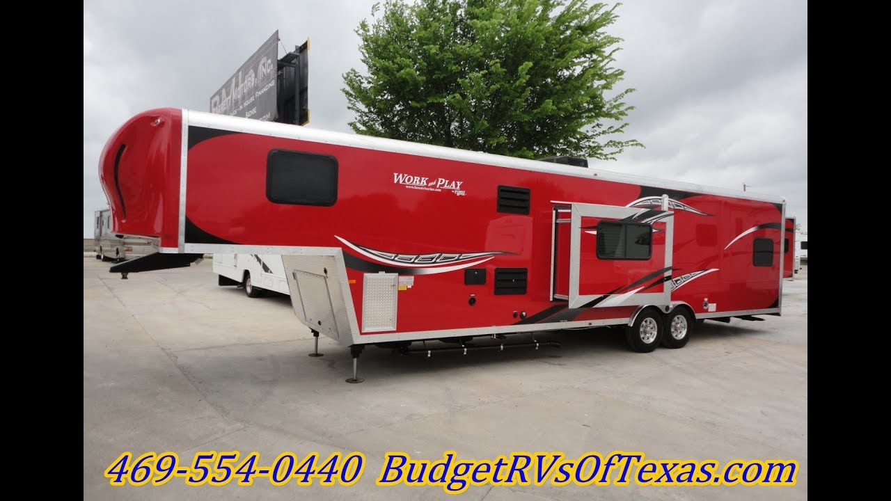 38ft 2014 Work And Play Fifth Wheel Toy Hauler That Is