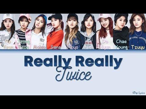 [WINNER Cover] TWICE (트와이스) - Really Really (Color Coded Lyrics) [HAN/ROM/ENG]