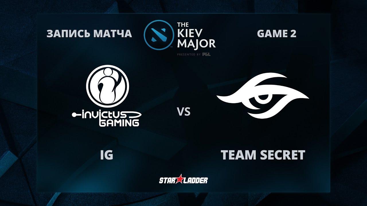 iG vs Team Secret, Game 2, The Kiev Major Group Stage