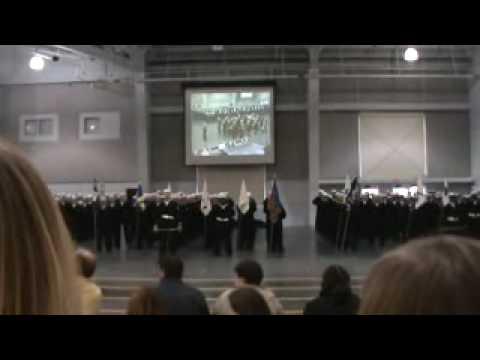 Navy Graduation Sailors Creed Drum Solo Navy Chorus 2009