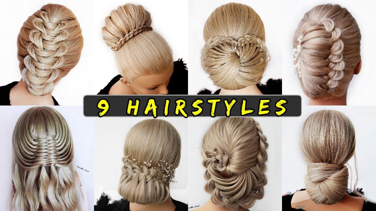 😱 10 Easy UPDO HAIRSTYLE Tutorials😍 Wedding Prom Updo perfect for long,  medium & shoulder length hair