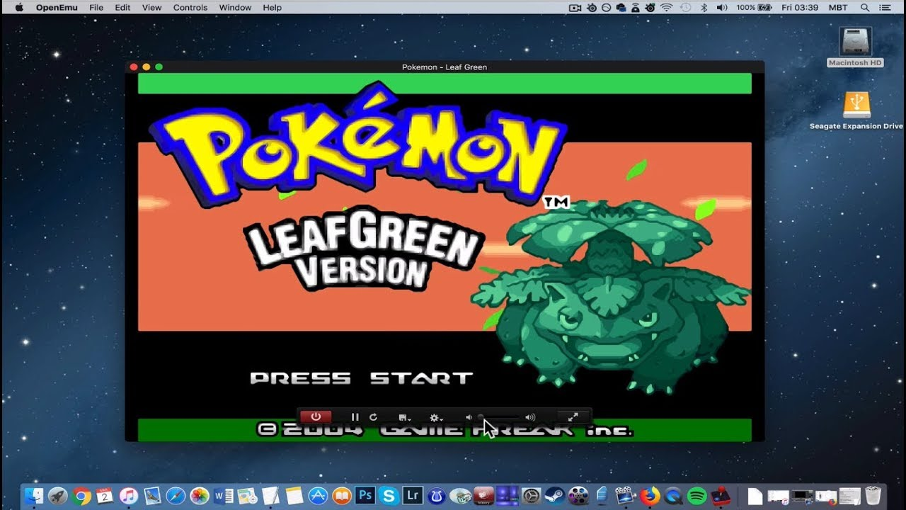 how to play pokemon on mac controls