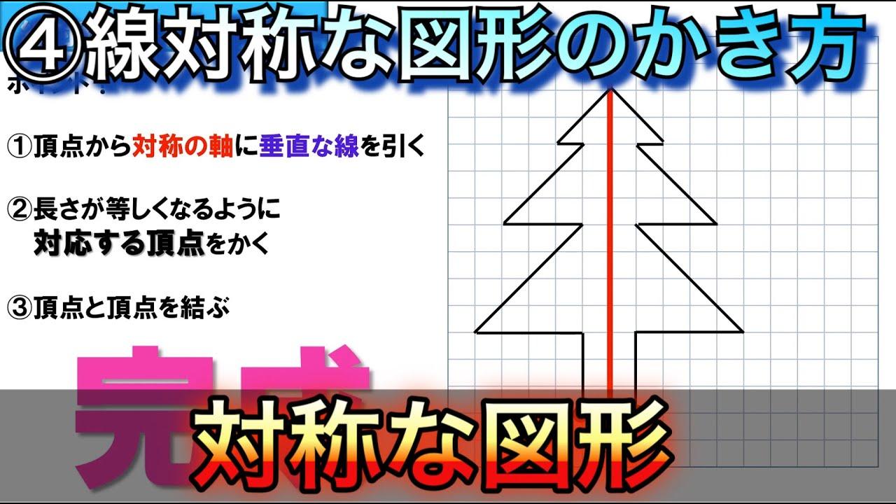 線 対称 な 図形 の 書き方