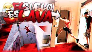 el suelo es lava the floor is lava versin parkour