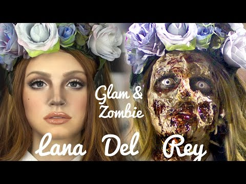 Lana Del Rey Zombie Makeup Transformation