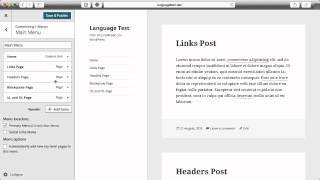 Adding and Modifying a Site Menu in WordPress 4.3