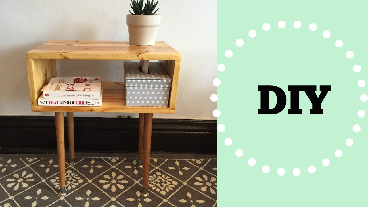 Table de nuit design scandinave youtube - Fabriquer table chevet ...