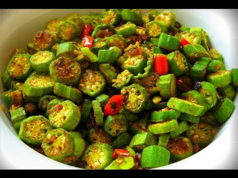 Vegetarian Curry Okra Recipe Youtube