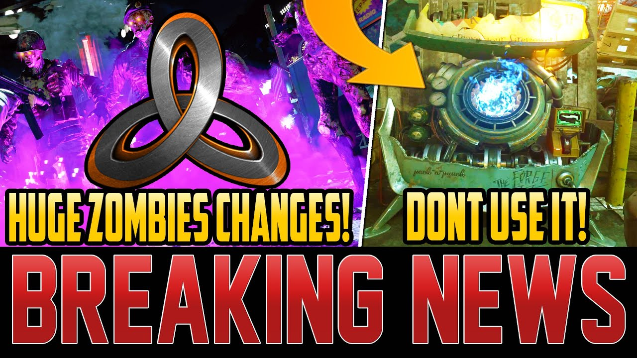 MAJOR ZOMBIES CHANGES MADE – DONT PACK-A-PUNCH ANYMORE – NEW DROP ADDED! (Cold War Zombies)