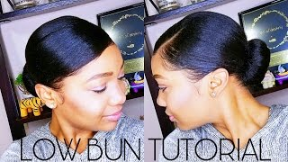 QUICK Low BUN Tutorial | BAD HAIR DAY || Mom Does My Voiceover!
