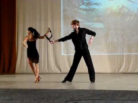 Pop Vlad & Modog Iulia-Rumba at the Christmas Show in 2011 Oradea- fragment II