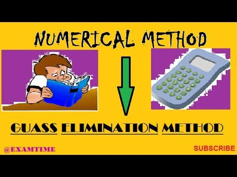 GAUSS ELIMINATION METHOD _ STEP BY STEP