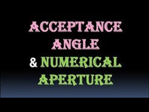 Acceptance Angle and Numerical Aperture    Physics    Education    2018