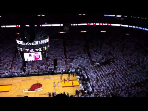 LIVE Udonis Haslem Standing Ovation In Miami