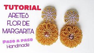 DAISY FLOWER EARRINGS, parte1 // TUTORIAL DE ARETES DE FLOR DE MARGARITA, PASO A PASO