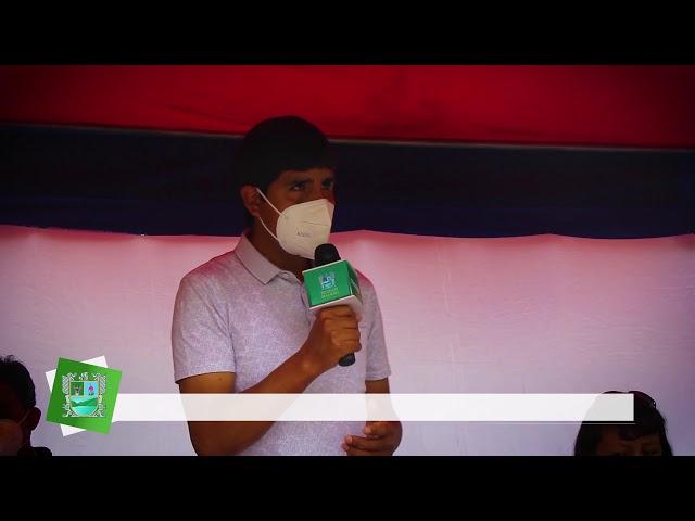PRIMERA PIEDRA PARA LA CONSTRUCCIÓN DEL PAVIMENTO EN EL JR. LIMA