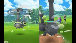 Galarian form of weezing released in Pokemon Go after com day!
