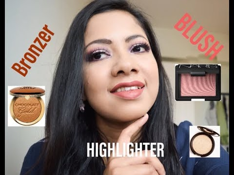 How to apply Bronzer Blush and Highlighter