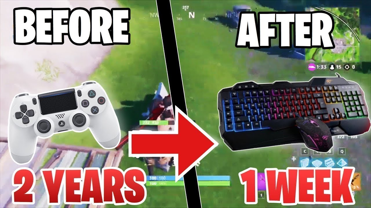 1 Week Progression From XBOX to PC (Controller to Keyboard & Mouse)  Fortnite Battle Royale