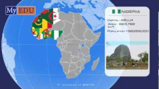 Africa and its countries and capitals