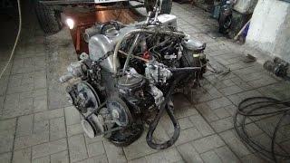 Вскрываем двигатель ОМ 617 Мерседес.