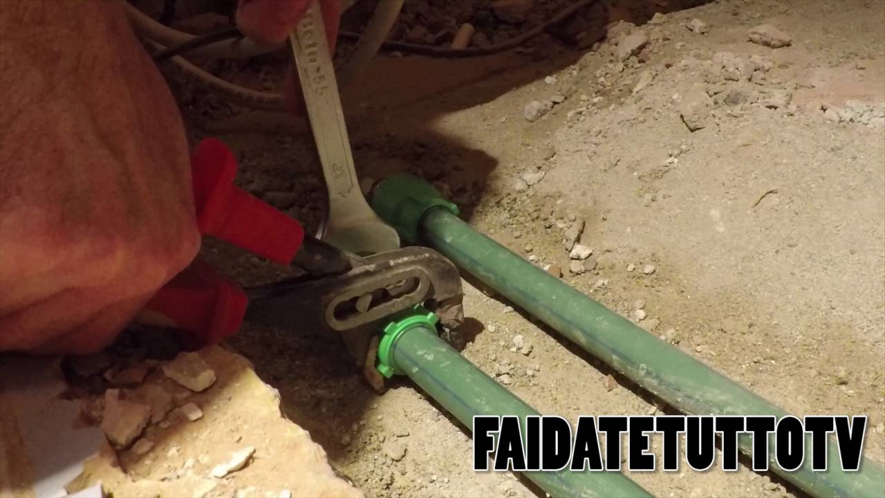 come modificare o aggiustare impianto idraulico con tubi
