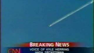 NASA Landing & CNN  Coverage of STS-107 Part 14  (The Columbia Disaster)