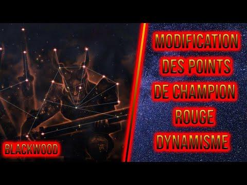 Modification des Points de Champion Rouge - Dynamisme - ESO - Blackwood |