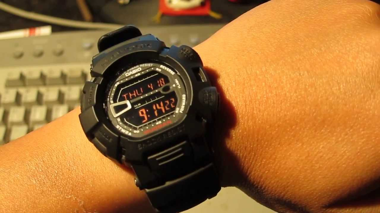 17bbc9b3983 Casio G-Shock Mudman G9000MS-1CR Military Concept Watch - YouTube