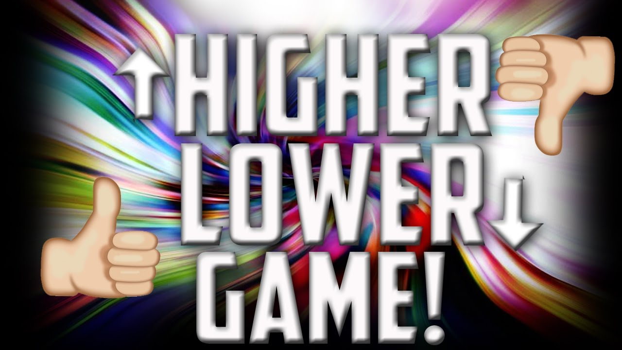 HIGHER OR LOWER GAME!! (google game) - YouTube