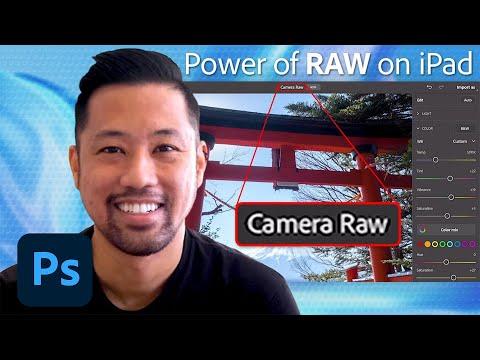 Raw-redigering kommer till Photoshop på iPad Fränt!