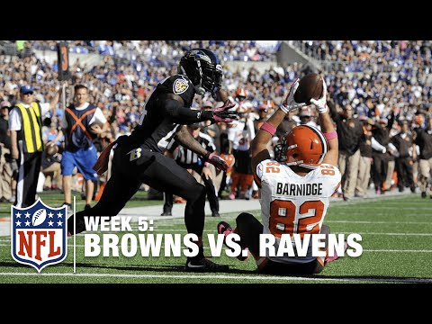 Gary Barnidge Makes Miraculous TD Catch Between His Legs | Browns vs. Ravens | NFL