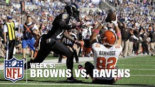 Gary Barnidge Makes Miraculous TD Catch Between His Legs | Browns vs. Ravens | NFL
