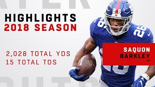Saquon Barkley's FULL Rookie Highlights