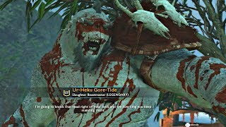 Shadow Of War - Slaughter DLC LEGENDARY Level 61 Olog Boss Shaming & Legendary Blood Cloak
