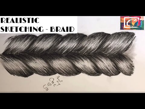How to sketch realistic braid - sketching tutorials thumbnail