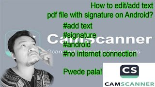 HOW TO EDIT/ADD TEXTS IN PDF FORMAT ON ANDROID + SIGNATURE NO INTERNET CONNECTION NEEDED? Camscanner screenshot 5