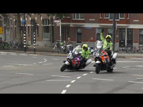 Politie begeleidt Ambulance uit Den Haag naar EMC Rotterdam