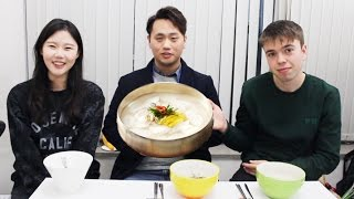 [ENG]영국 남자가 떡국을 처음 먹어봤을 때 반응은?! British Guy Tries Korean New Year's Food For The First Time