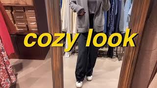 COZY LOOK 집콕 코지룩/ 폴라티&니트점퍼…