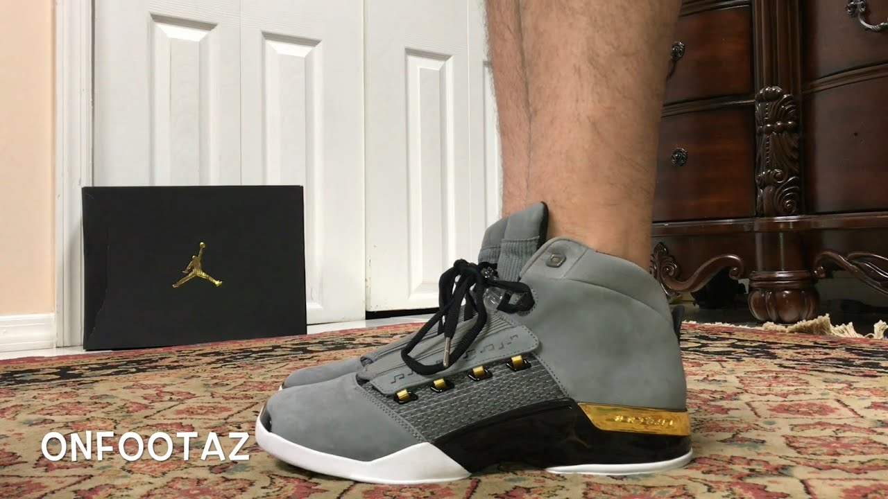 Air Jordan 17 XVII Trophy Room On Foot - YouTube 53ae7e1653a0